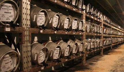 Casks ready to go at Beer Festival