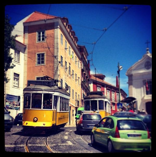 Rickety Tram in Lisbon