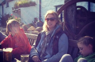 Square and Compass in Worth Matravers with my family