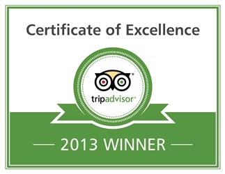 Trip advisor excellence badge