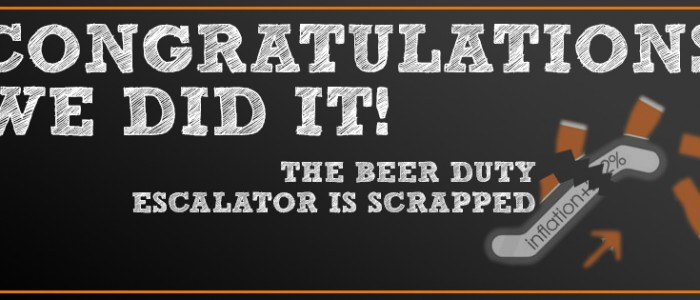 Beer Duty Escalator Scrapped