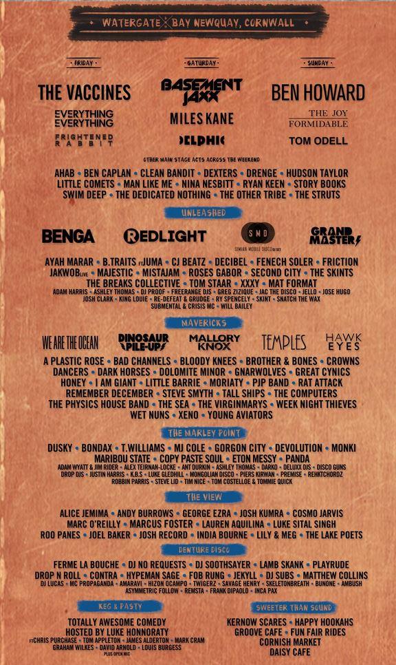 Boardmasters Festival Line Up