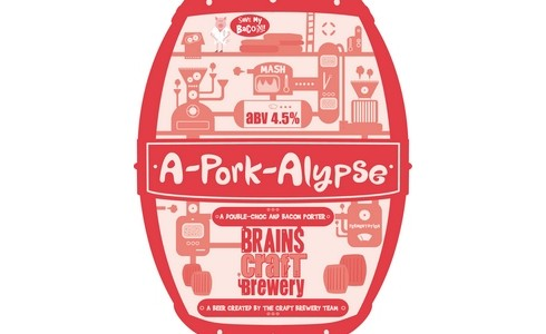 Brains A-Pork-Alypse Craft Beer