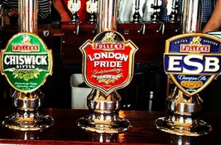 Fullers beers on tap