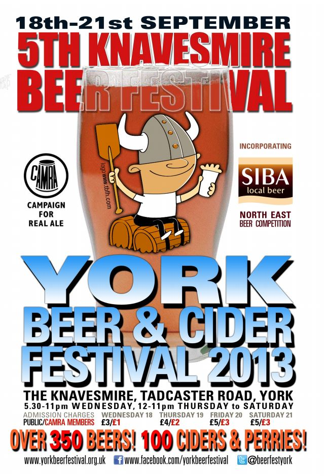 York Beer and Cider Festival 2013 Flyer