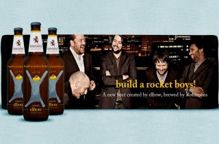 Elbow and build a rocket boys beer