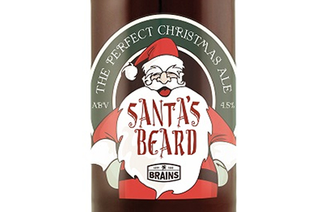 Brains Craft Brewery Santa's Beard Beer
